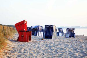 Strand mit Strandkörben auf Rügen
